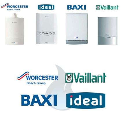 Boilers by different manufacturers